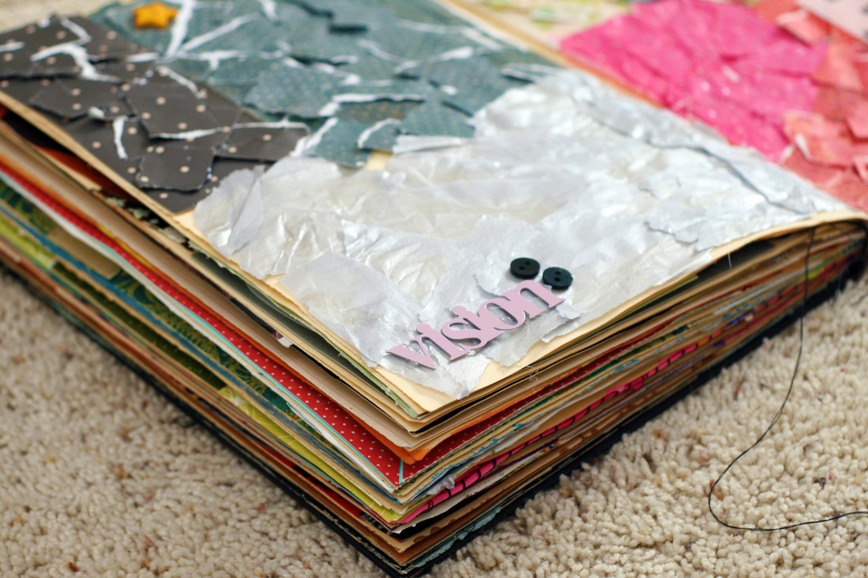 How To Make A Book Homemade : Diy project homemade book colour her hope