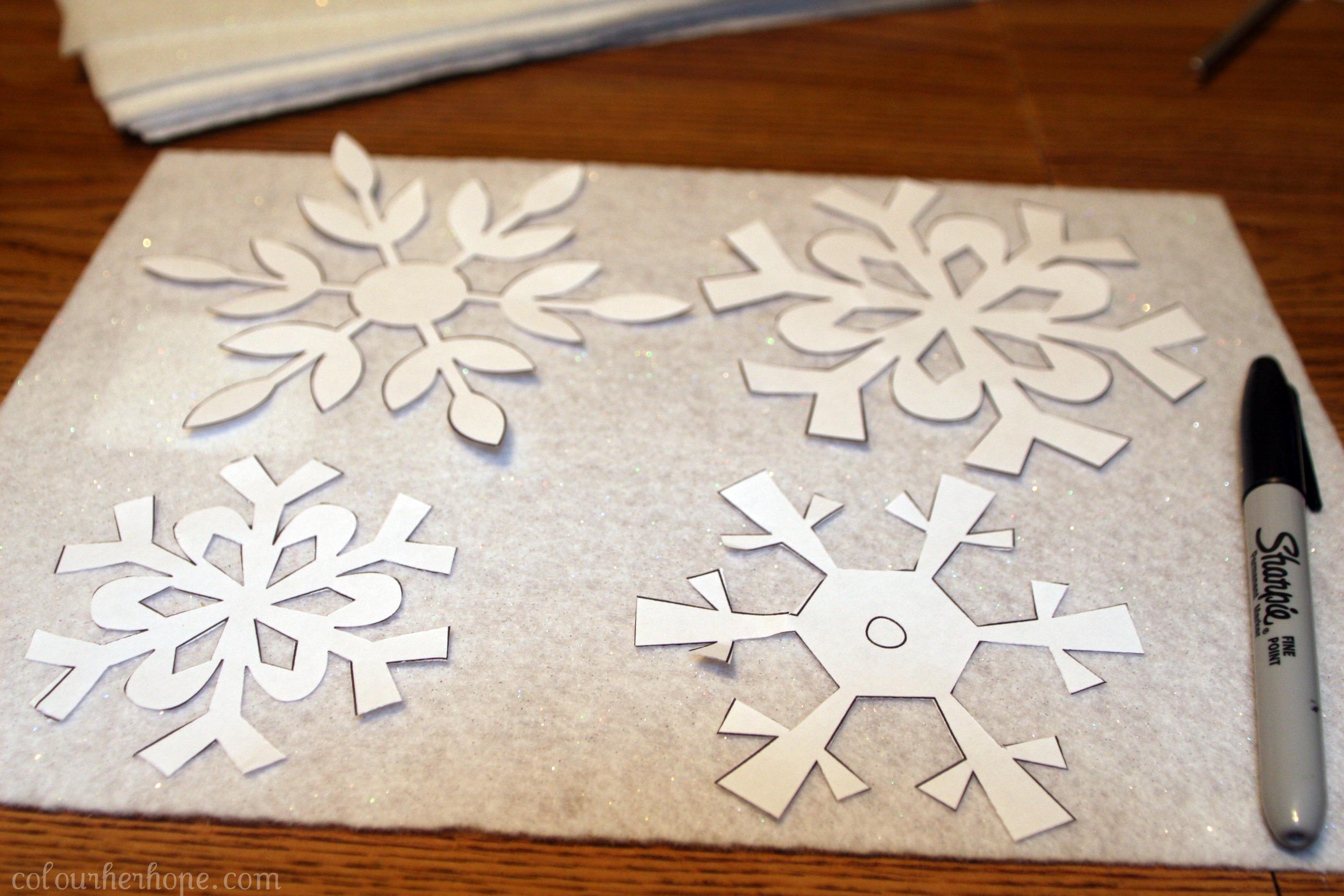 "Falling"" Felt Snowflakes DIY – Colour Her {Hope}"