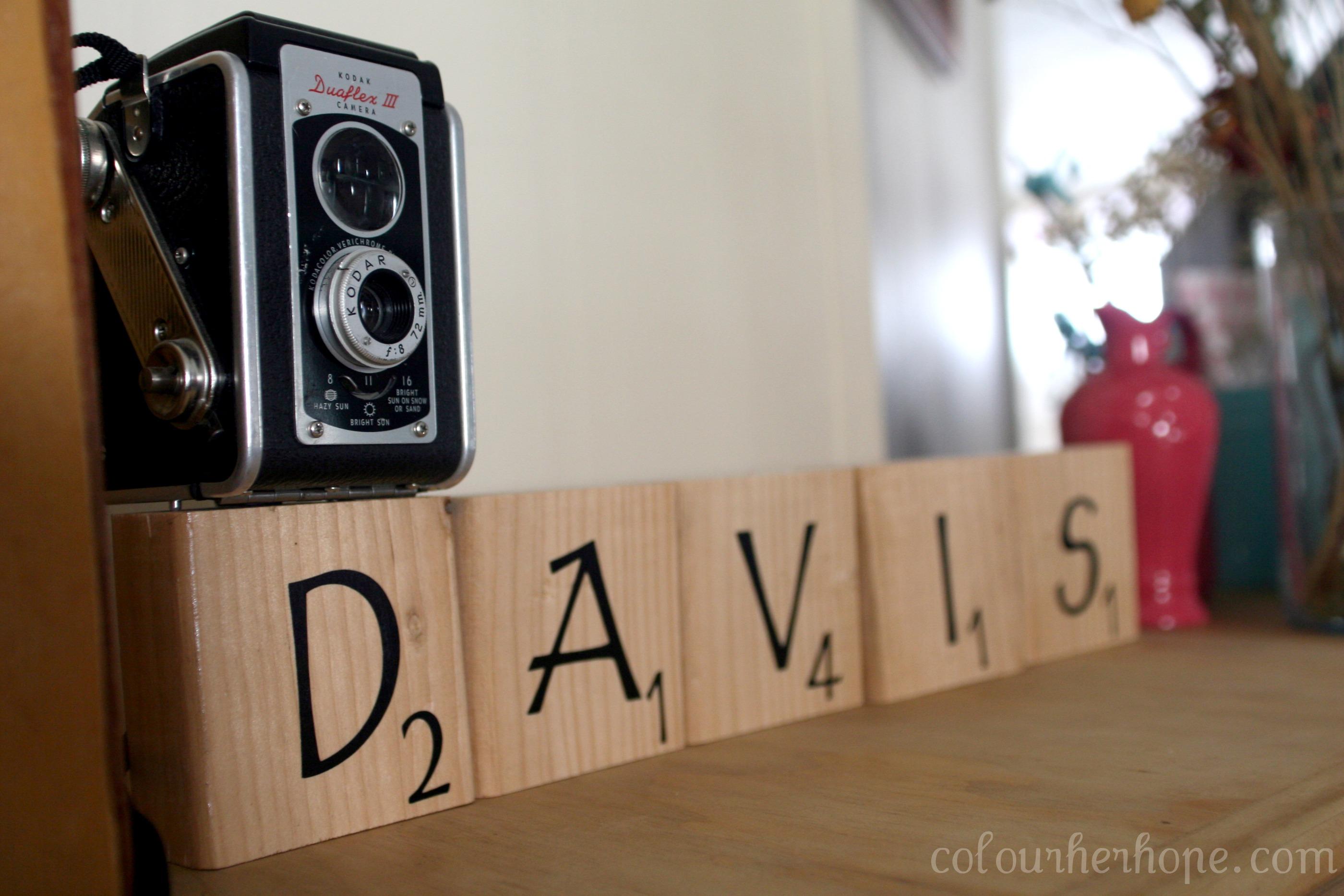 DIY Scrabble Blocks