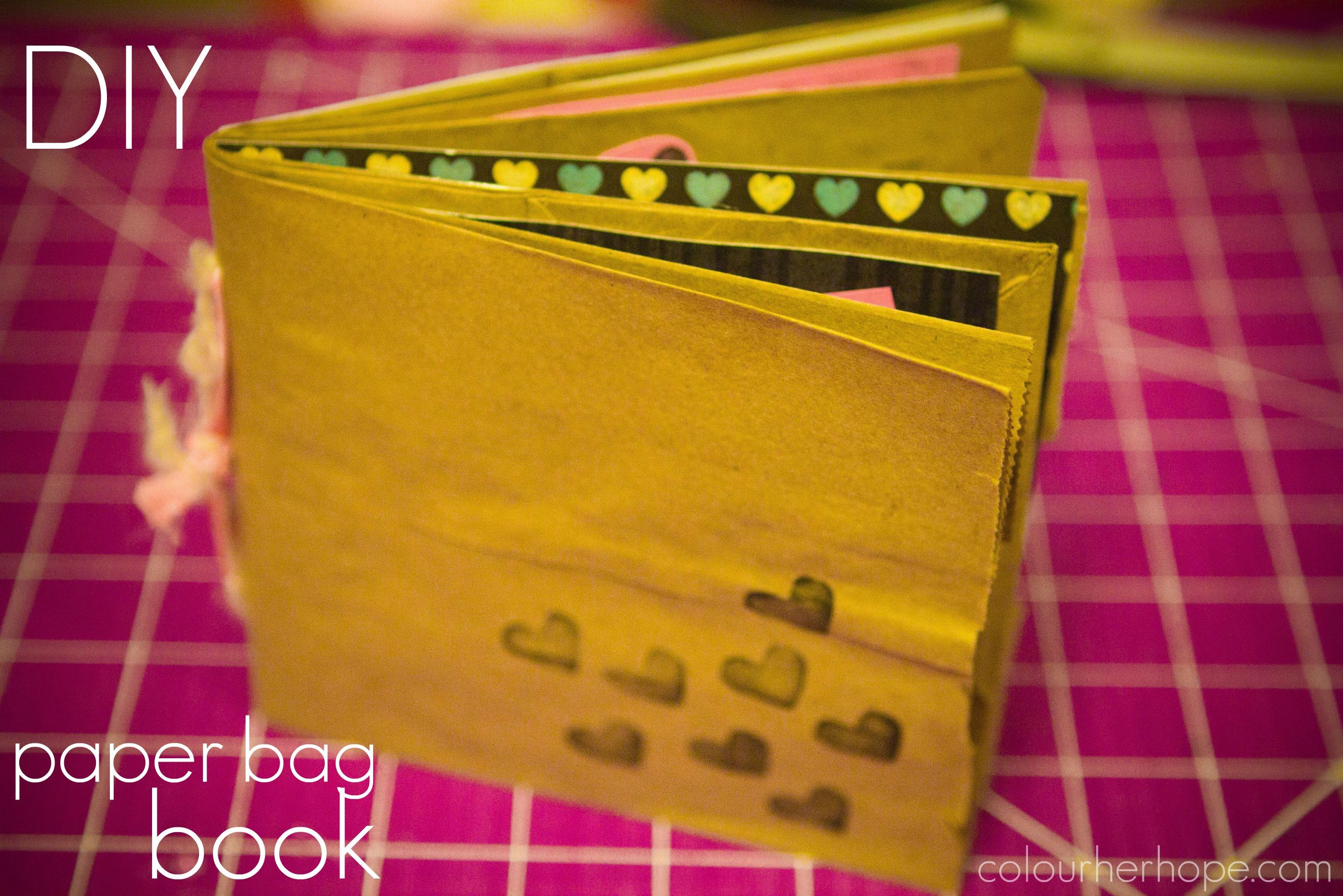 Paper Bag Book Cover Decoration ~ Diy paper bag book colour her hope